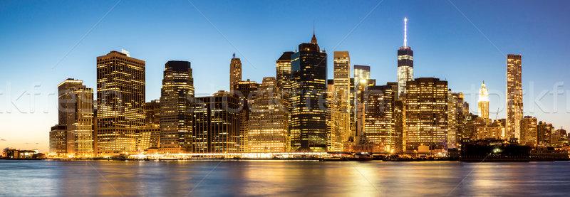 Panorama of New York City Manhattan skyline Stock photo © vichie81