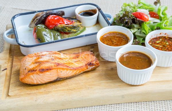 salmon steak Stock photo © vichie81