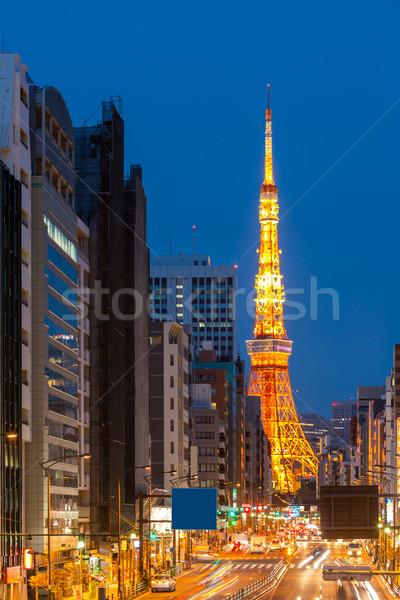Tóquio torre crepúsculo Japão cidade edifícios Foto stock © vichie81