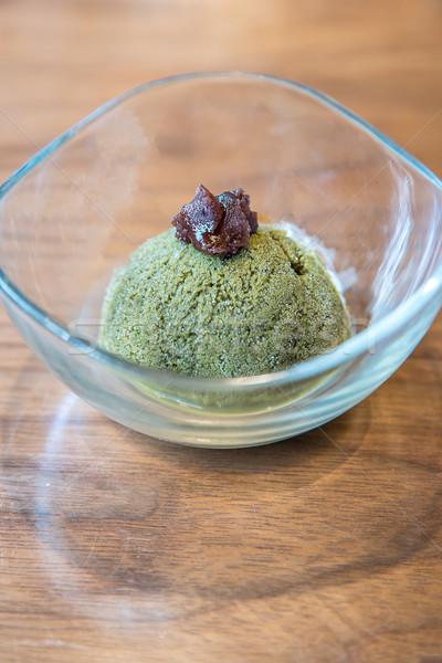 Stok fotoğraf: Yeşil · çay · dondurma · çay · yeme · tatlı