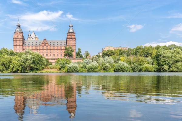 Foto stock: Palacio · Frankfurt · árbol · edificio · pared · arte