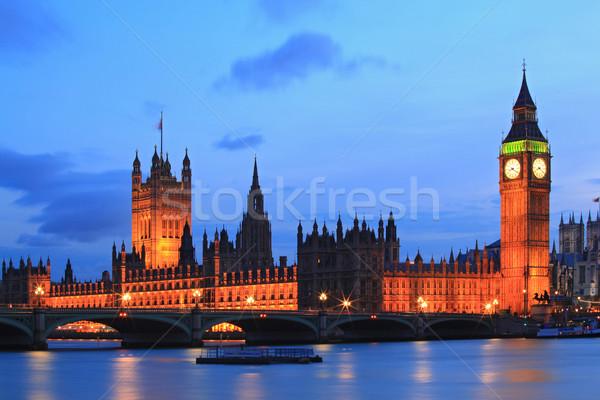 Big Ben London ház parlament folyó Temze Stock fotó © vichie81