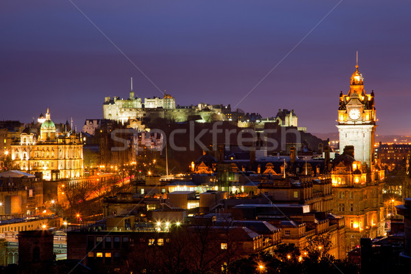 Edinburgh scotland dusk Stock photo © vichie81