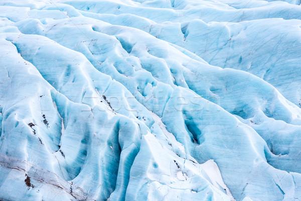 Gletsjer IJsland park sneeuw Blauw Europa Stockfoto © vichie81