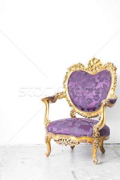 Stock photo: Purple Royal Chair