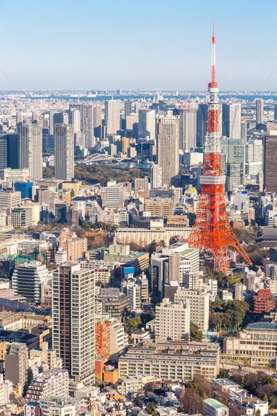 Tokio torre horizonte Japón ciudad puente Foto stock © vichie81