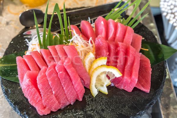 Ton balığı sashimi yüzgeç Japon gurme mutfak Stok fotoğraf © vichie81
