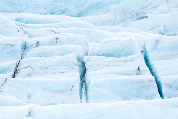 Gletsjer IJsland sneeuw ijs winter Blauw Stockfoto © vichie81