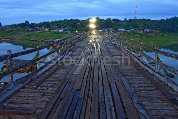 Wooden walkway bridge Stock photo © vichie81