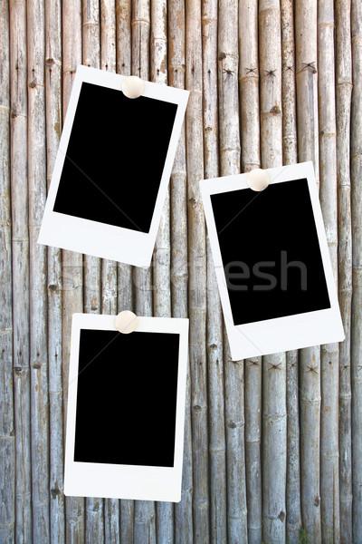 Foto stock: Foto · marcos · bambú · pared · resumen · película