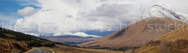 Tierras altas Escocia panorama vacío carretera Foto stock © vichie81