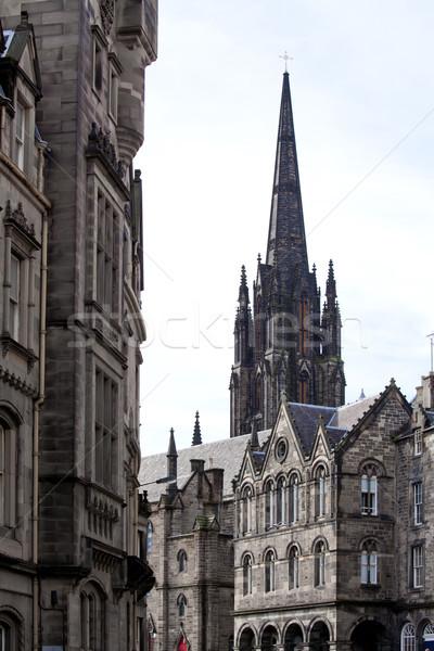 Katedrális Edinburgh Skócia építészet város hó Stock fotó © vichie81