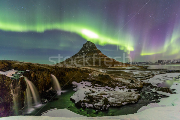 Northern Light Aurora borealis Stock photo © vichie81