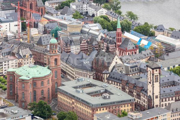 Франкфурт Германия основной Небоскребы Сток-фото © vichie81