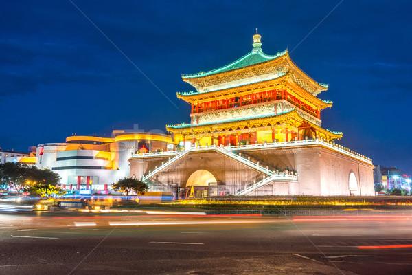 Xian bell tower Stock photo © vichie81