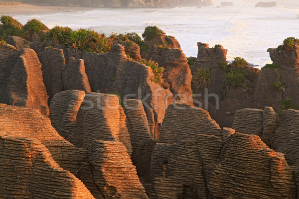 pancake rock canyon in New Zealand Stock photo © vichie81