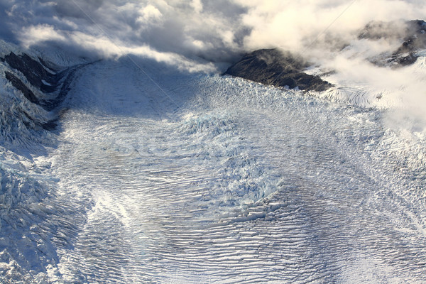 aerial view of franz josef glacier from helicopter in New Zealan Stock photo © vichie81