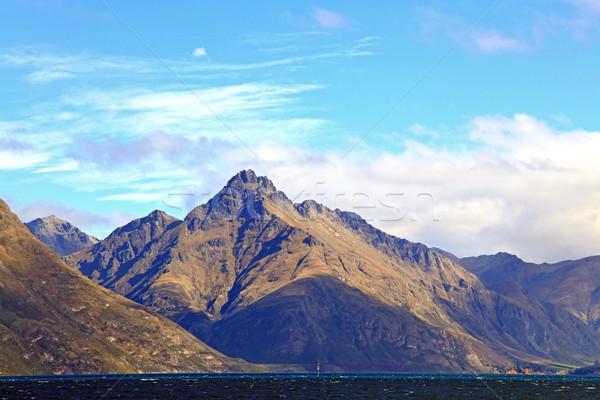 Mountain and Lake Landscape New Zealand Stock photo © vichie81