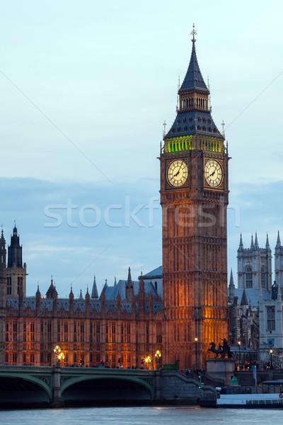 Big Ben folyó Temze nemzetközi látványosság London Anglia Stock fotó © vichie81