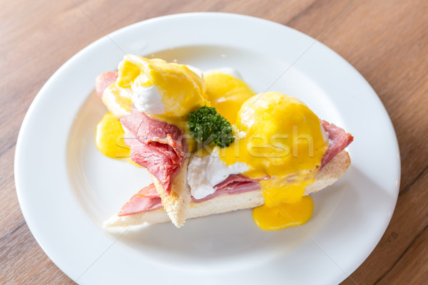 Eggs Benedict Ham Stock photo © vichie81