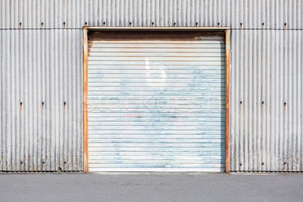 Stok fotoğraf: Depo · kapı · depolama · birim · panjur · fabrika