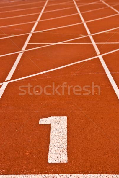 Rennstrecke Nummer eins abstrakten Textur Sport Bereich Stock foto © vichie81