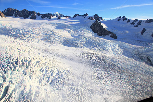 Ghiacciaio top view nubi panorama montagna Foto d'archivio © vichie81