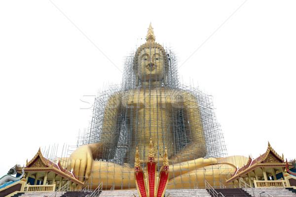 Stock photo: biggest golden buddha statue