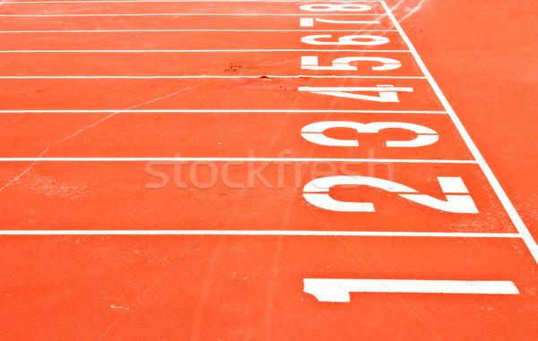 Rennstrecke Netz Stadion Textur Sport laufen Stock foto © vichie81