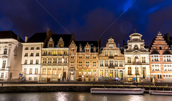 Ghent Old town Belgium Stock photo © vichie81
