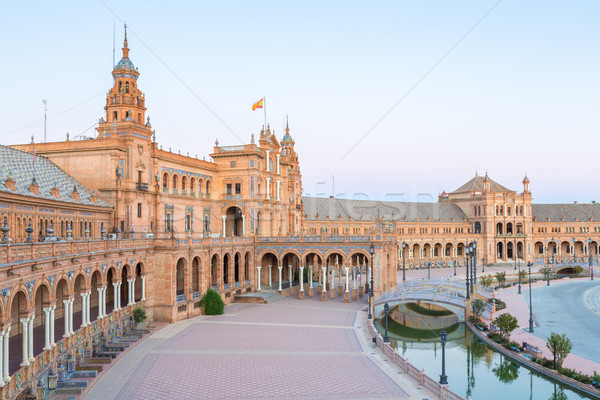 espana Plaza Seville Spain Stock photo © vichie81