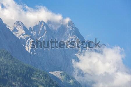 Alpesi Alpok hegy tájkép felső Németország Stock fotó © vichie81