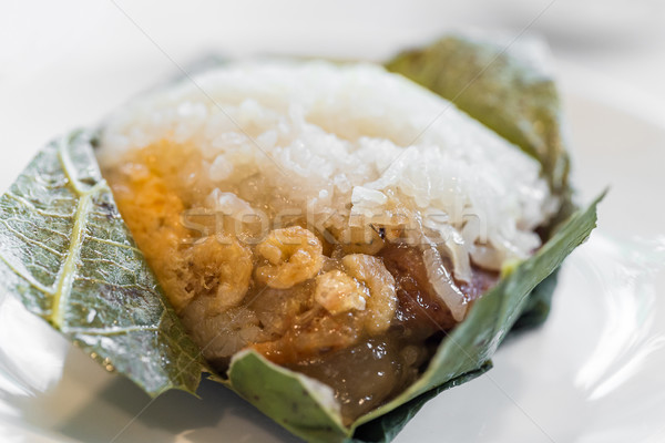 Rijst knoedel chinese dim sum voedsel restaurant Stockfoto © vichie81