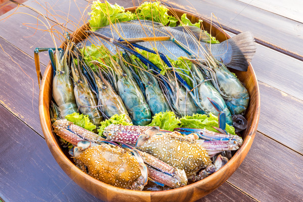 Seafood set Stock photo © vichie81