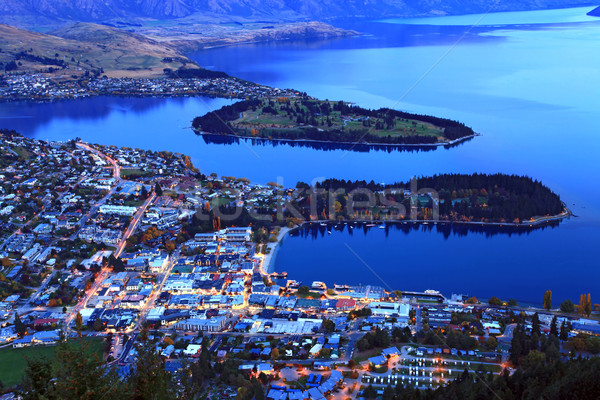 queenstown downtown at dusk Stock photo © vichie81