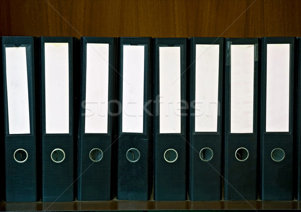 blank folden on shelf Stock photo © vichie81