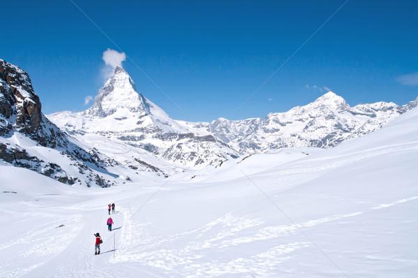 Szczyt Szwajcaria podróżnik turystyka alpejski alpy Zdjęcia stock © vichie81