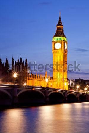 Big Ben sunset twilight Stock photo © vichie81