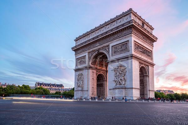 Arc of Triomphe Paris Stock photo © vichie81
