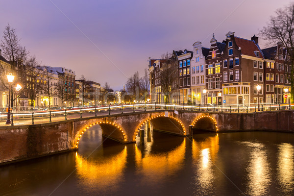 Amsterdam Canals Netherlands Stock photo © vichie81