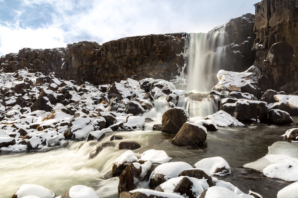 pingvellir Waterfall Iceland Stock photo © vichie81