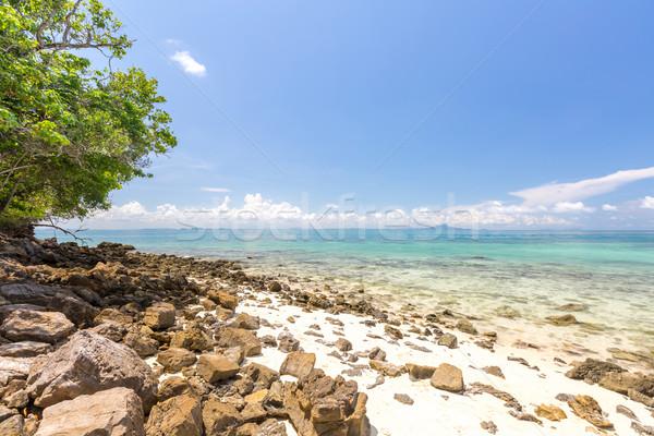 Wit zand strand tropische zee hemel water Stockfoto © vichie81
