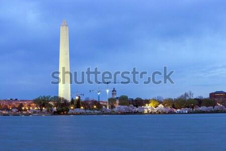 Washington Monument at dusk DC Stock photo © vichie81