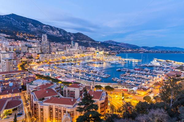 Mônaco porto francês montanha oceano viajar Foto stock © vichie81