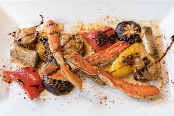 grilled taraba japanese king crab Stock photo © vichie81