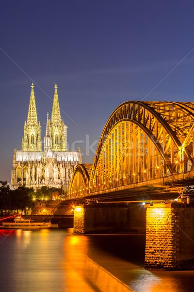 Stock fotó: Parfüm · katedrális · Németország · híd · épület · város