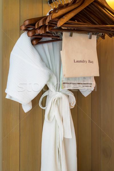 Branco roupão de banho moda corpo casal Foto stock © vichie81