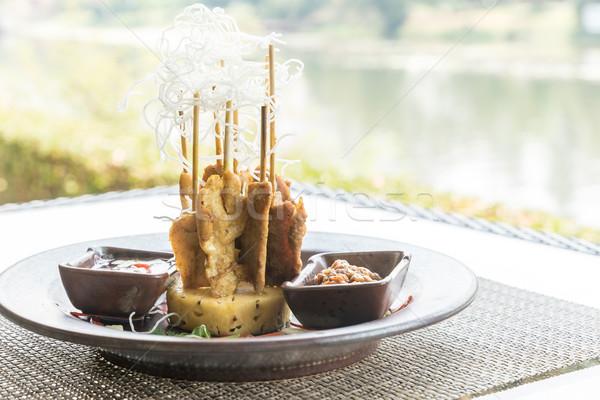 Kip thai voedsel diner vlees asian Stockfoto © vichie81