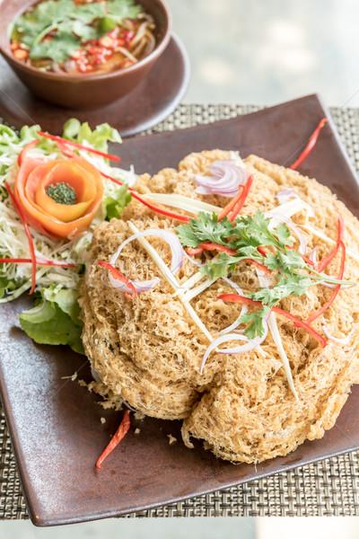 Crispy catfish salad Stock photo © vichie81