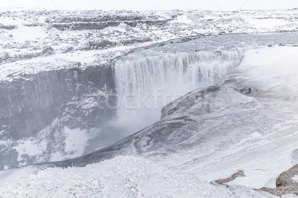 Cachoeira inverno neve água paisagem viajar Foto stock © vichie81
